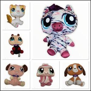 Lot of 6 littlest pet shop stuffed animals